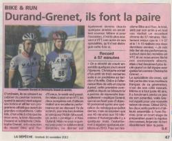 30 11 2012 Article sur Alexandre Durand et Christophe Grenet