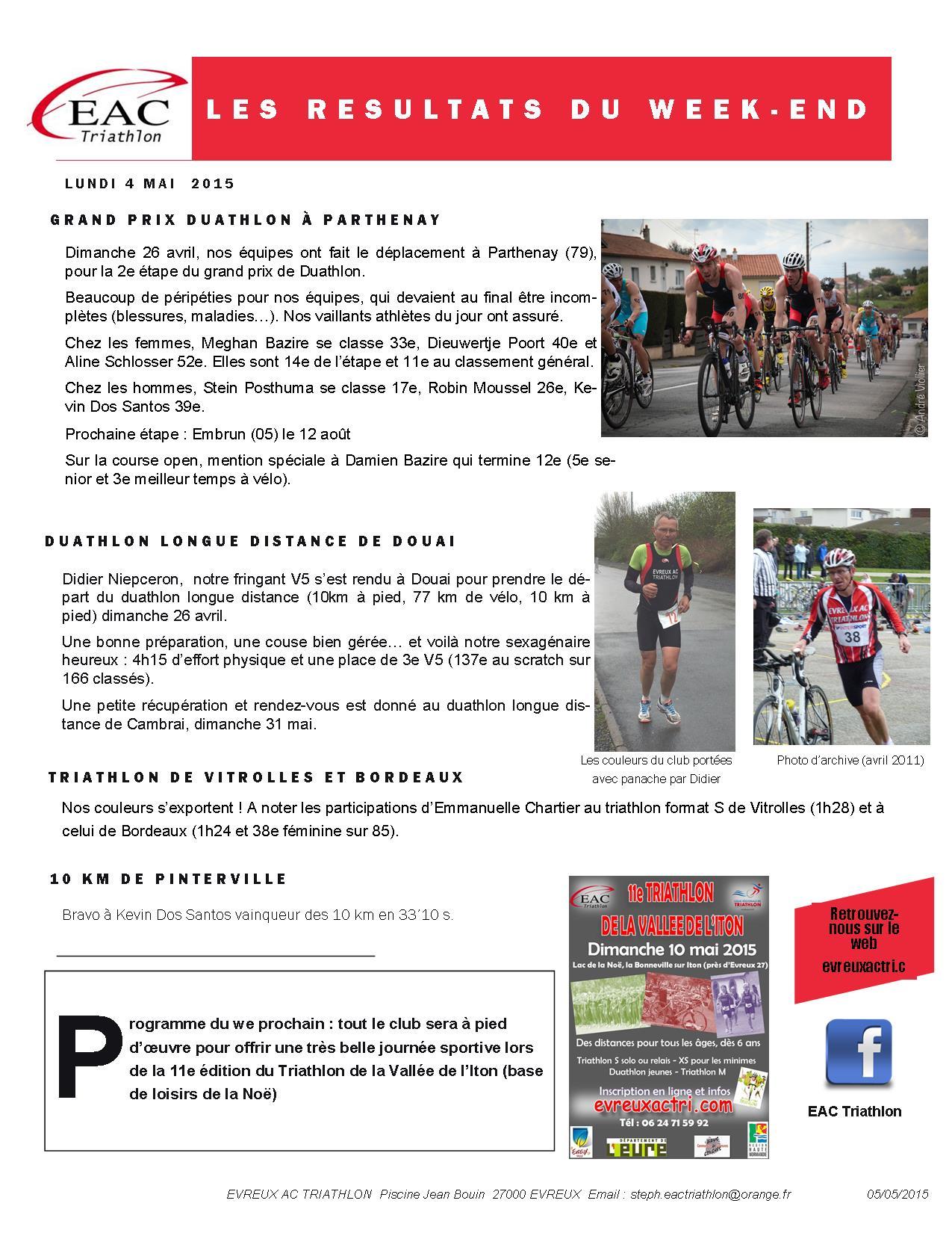 2015 04 27 Grand Prix Parthanay, Duathlon Douai