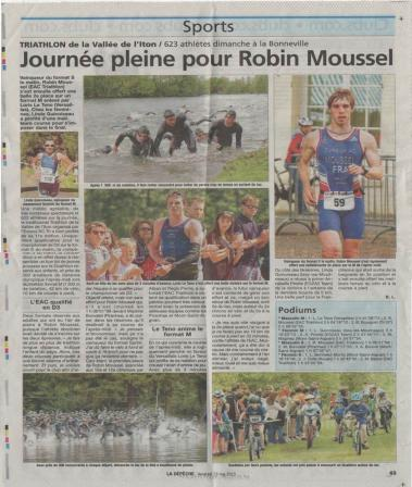 2015 05 15 la depeche triathlon la noe