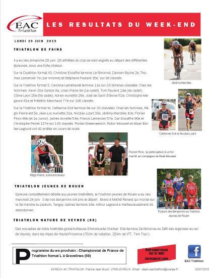 2015 06 29 triathlon jeunes rouen fains