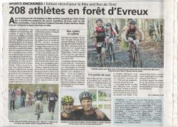 bike and run du 19 janvier 2014