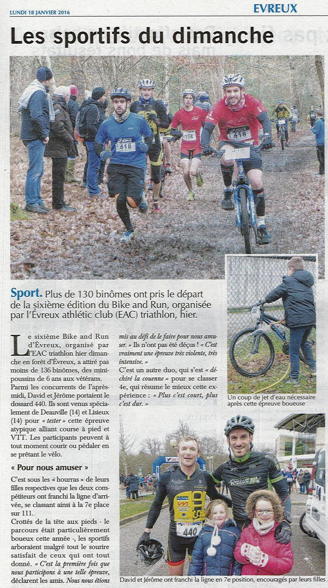 Bike and run for Piscine jean bouin evreux