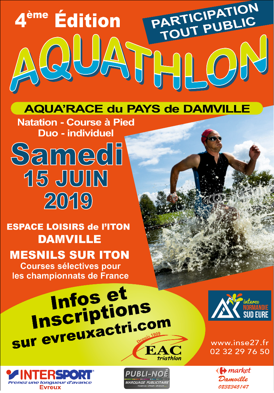 Affiche aquathlon