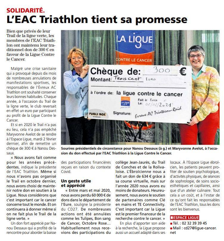 Eure infos 02 02 2021 don ligue cancer